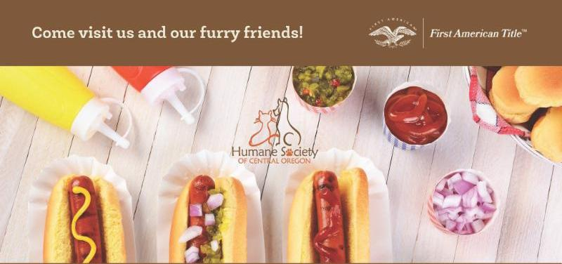 Hot Doggie'd Dog Day Adopt a loving animal today from the Bend